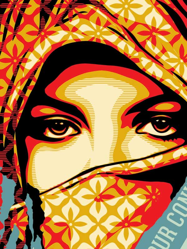 Shepard Fairey Obey   Golden Future for Some Diptych Print Set ...