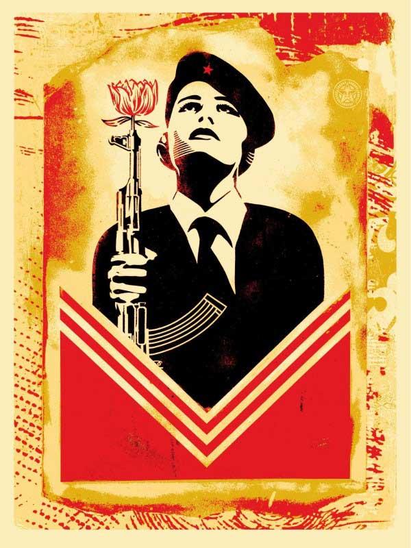 Shepard Fairey Obey   Peace Guard 2 Stencil Print
